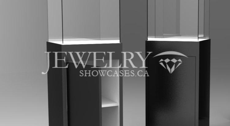 Pedestal display cases in Vancouver
